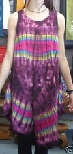 Summer Rayon Tie Dye Dresses for Women