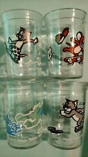 VINTAGE WELCH'S 90's JELLY/JUICE TOM & JERRY JARS/GLASSES-MIXED SET OF 4