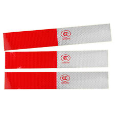 Reflective Warning 10x Trucks Red&White Safety Night Decal Sticker 3M Strips Fit