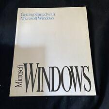 MICROSOFT WINDOWS v3.1: GETTING STARTED WITH MICROSOFT WINDOWS 1991