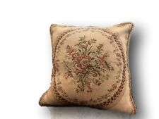 Tache 2 PC Chenille Woven Medallion Red Burgundy Garden Throw Pillows