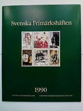 More details for 1990 swedish stamp booklets set. with 10 books of stamps. svenska frimarkshaften