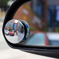 2pc 360° Rotable Universal Car Wide Angle Round Blind Spot Mirror Rearview Set