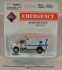 Boley 1/87 No. 4122 Emergency international ambulance Ambulance blanc OVP #1613