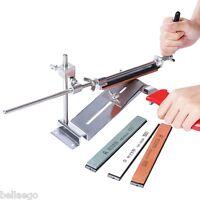 RUIXINPRO Knife Sharpener Kitchen Grinder Sharpening System 4 Whetstone Durable
