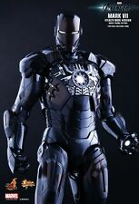 "Hot Toys 12"" 1/6 Iron Man Mk VII Stealth Mode Avengers New in Brown Shipper"