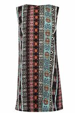 WAREHOUSE PRINTED SHOULDER PAD SHIFT DRESS