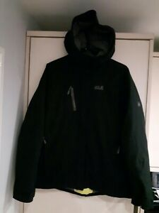 "Ladies Jack Wolfskin Down Coat Size UK 8/10 C38"" Black Vgc"