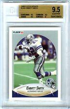 EMMITT SMITH~DALLAS COWBOYS~1990 FLEER UPDATE BGS-9.5 GEM-MT ROOKIE RC CARD #U40