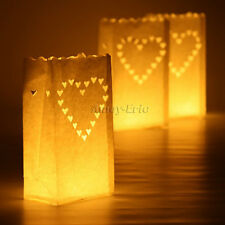Tea Light Holder Luminaria Paper Lantern Candle Bag Party Wedding Decoration Heart 40pcs