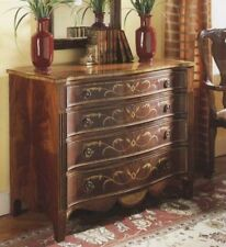 Walnut English Serpentine Chest of Drawers antique reproduction NEW 1063
