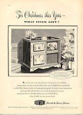 1947 DuMont  PRINT AD Television Plymouth AM-FM Radio Santa Christmas Theme