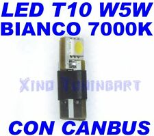 CANBUS SMD LED BIANCO 7000K T10 W5W NO ERRORE SPIE obd