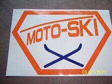 """5""""X 8"""" (NEW Vinyl) MOTO-SKI STICKER"""