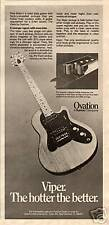 1978 THE HOTTER THE BETTER OVATION VIPER GUITAR AD