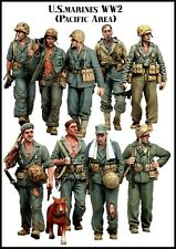 RARE 1/35 Resin Model Kit US MARINES WW2 (9 Figures) PACIFIC THEATRE