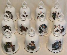 New ListingLot of 11 Norman Rockwell Danbury Mint Ceramic Bells 1979 Germany 5.5�x3.5�