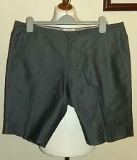 """CALVIN KLEIN Fitted Grey Shorts Size uk 36"""""""