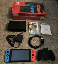 Nintendo Switch BundleV2 neon blue / red Joy-cons Dock + Pokemon Sword game lot