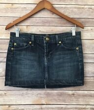 Seven 7 For All Mankind Women's 26 Denim Jean Casual Mini Skirt Medium Wash $104