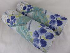 Designers Guild Kimono Blossom Fabric Bolster Cushions Delft Blue Floral