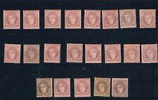 España. Conjunto de 21 sellos nuevos de 1 Mils Gobierno Provisional