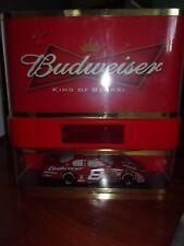 BUDWEISER BEER NEON LICHT NASCAR CLOCK SIGN 18 X 18 X 5