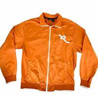 Rocawear Men's Large Orange Track Jacket Logo Front Full Zip Long