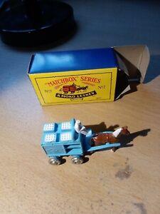 Matchbox Regular MB7 Milk Float RE-ISSUE Blue boxed