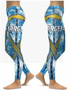 Los Angeles Chargers Small to 2X-Large Women's Leggings New