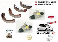 für VOLKSWAGEN VW oben 1.0 2012> NEU 2 x hintere Bremse Radzylinder Set + Schuh