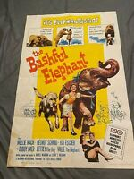 Vintage 1961 Cinema Theater Movie Poster THE BASHFUL ELEPHANT 27x41