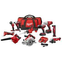 Cordless Power Tool Set Kit 10 Tool 2 Batteries Charger 2 Bags M18 LIMITED NEW