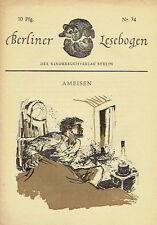 Berliner Lesebogen 74 Richter Ameisen Romanheft Kinderbuchverlag 1958
