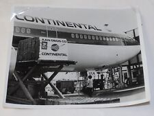 Vintage Continental Airlines DC10  loading cargo COMPANY PHOTO 8 x 10""