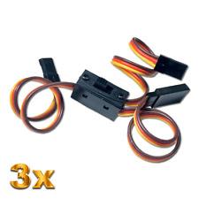 3 Ein Aus Strom Power Schalterkabel Ladebuchse Graupner Futaba 3x BEC JR Stecker