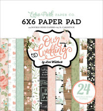"""New Echo Park  6"""" x 6"""" Paper Pad Our Wedding"""