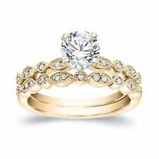 2.10 Ct Diamond Infinity Wedding Engagement Bridal Ring Set 18k Yellow Gold Over