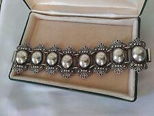 Silver Ornate Bracelet Vintage Gorgeous Large Sterling