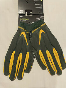Nike Superbad Green Bay Packers Football Gloves Men's Size Large  NWT