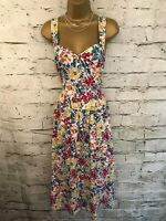 Laura Ashley Ladies Vintage Cotton Floral 1980's Summer Tea Dress UK 10 US 8
