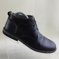 Varese Mens Gobi Lace Up Tweed Lining Brown Leather Chukka Boot  US 8 M #F34