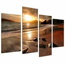 Large Sunset Beach Canvas Wall Art Pictures Living Room Prints XL 4131