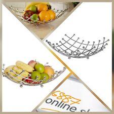 Premier Housewares Large Lattice Fruit Basket - Chrome - 32x32cm - BNWT