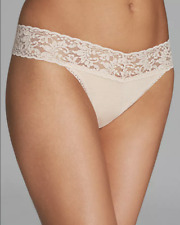 Hanky Panky 4914 Womens Chai Cotton Conscience Original-Rise Thong One Size