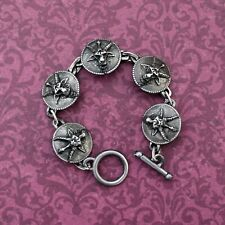 Baphomet Medallion Bracelet - Goat of Mendes Occult Levi Templar Alchemy Devil