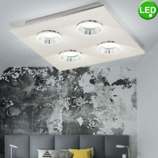 Sabbio Ceiling Luminaire LED 4 Light Stainless Steel Without Switch