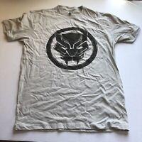 Marvel Black Panther Logo Graphic T-Shirt Sz L A2307