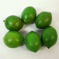 6pcs Artificial Limes Lemons Fake Fruit Realistic Imitation Home Decor