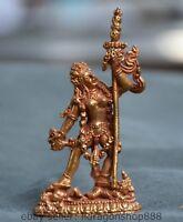 8,5 cm vieux tibétain doré bouddhisme stand statue de Bouddha vajrayogini